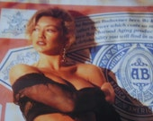 Promotional 1993 Budwieser Poster. Sexy blonde Classic