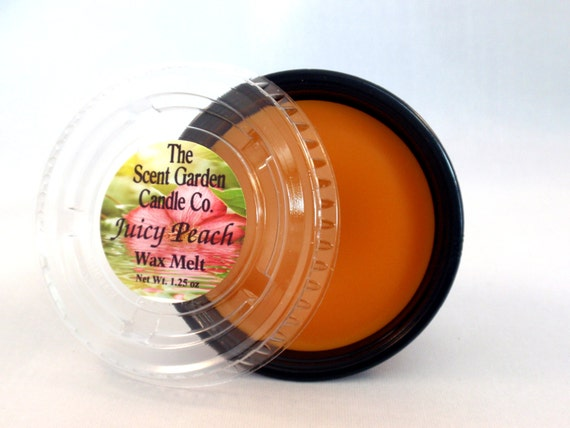 Highly Scented Wax Melt (Tart) - JUICY PEACH  - Set of 6 mix or match