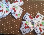 White Strawberry and Hello Kitty Inspired Piggy set
