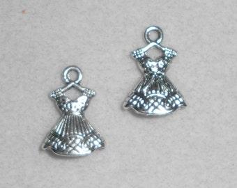 Silver Dress Charms