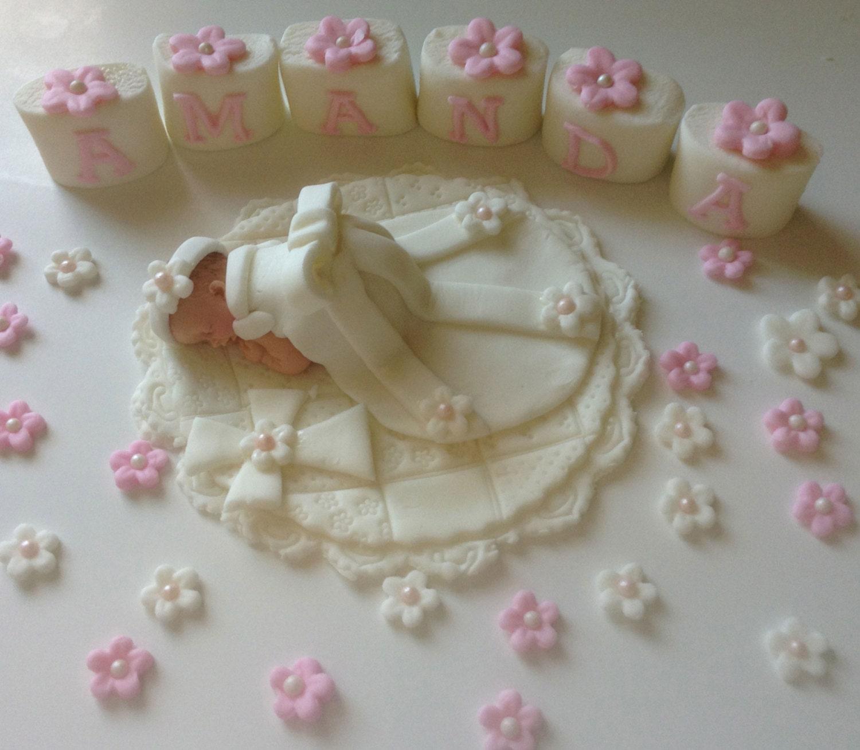 CHRISTENING BABY Cake Topper Fondant Cake Topper BABY Diamond