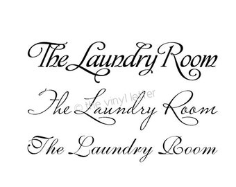The Laundry Room Vinyl Wall or Door Decal Decor Sticker