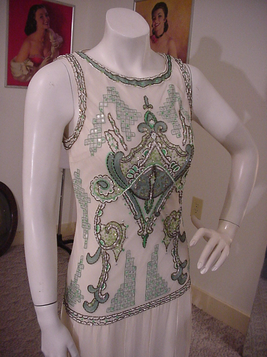 Sue wong gatsby art deco beaded flapper dress by for Sue wong robes de mariage