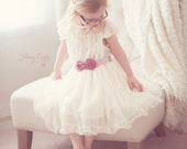 The Olivia Ivory Flower Girl Lace Dress, made for girls, toddlers, infants, ages 2T-14