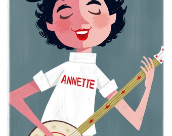 Thank You Annette Funicello., 11x14 print