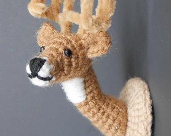 Crochet Deer Head Mount PATTERN