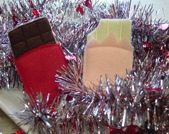 Felt Food - 2 Chocolate Candy Bars Felt Play Food