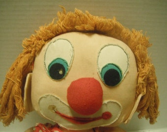 60s rag doll clown