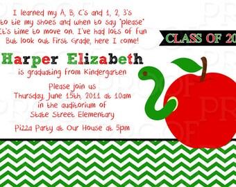 Kindergarten invite Etsy
