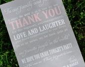 5x7 Wedding Thank You Card Printed