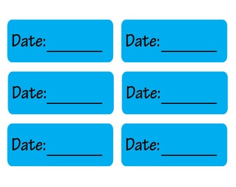 80 Removable Date Labels