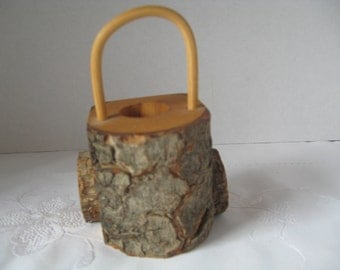Vintage wooden toothpick holder etsy - Toothpick holder for purse ...