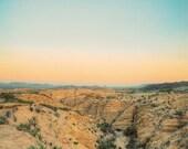Terlingua Horizon Photography - decorative photography print - wall art - home decor - sunset photo - square