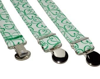 Suspenders - Green Shamrock Adjustable Suspenders