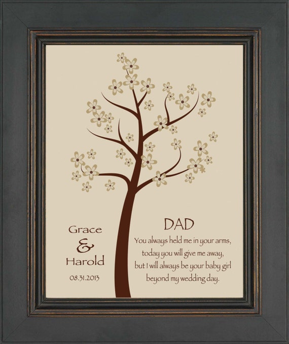 DAD from Bride- Thank you gift for DAD on Wedding Day from Daughter ...