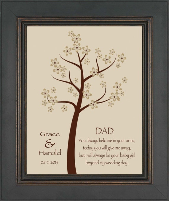 Wedding Gift Father Daughter : DAD from Bride- Thank you gift for DAD on Wedding Day from Daughter ...