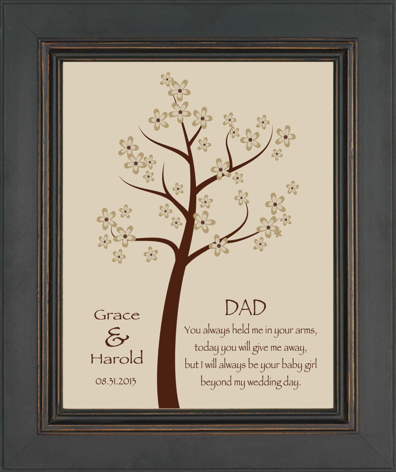 Wedding Gift For Your Dad : Wedding Gift for DAD from Bride Thank you gift for DAD on