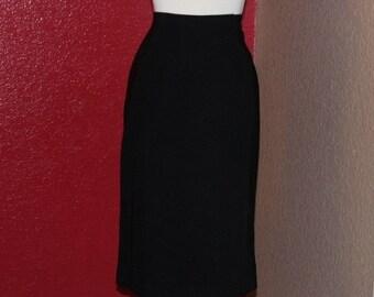 Vintage Skirt // 90's Black Skirt // Pencil Skirt