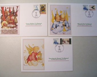 Hummel Christmas Commemorative Collection, 1985 First Public Appearance Covers, Lot of 3