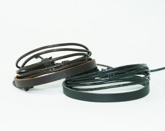 Real Leather Bracelet Couple Bracelets Leather Braid Wax Cord Layered Cuff