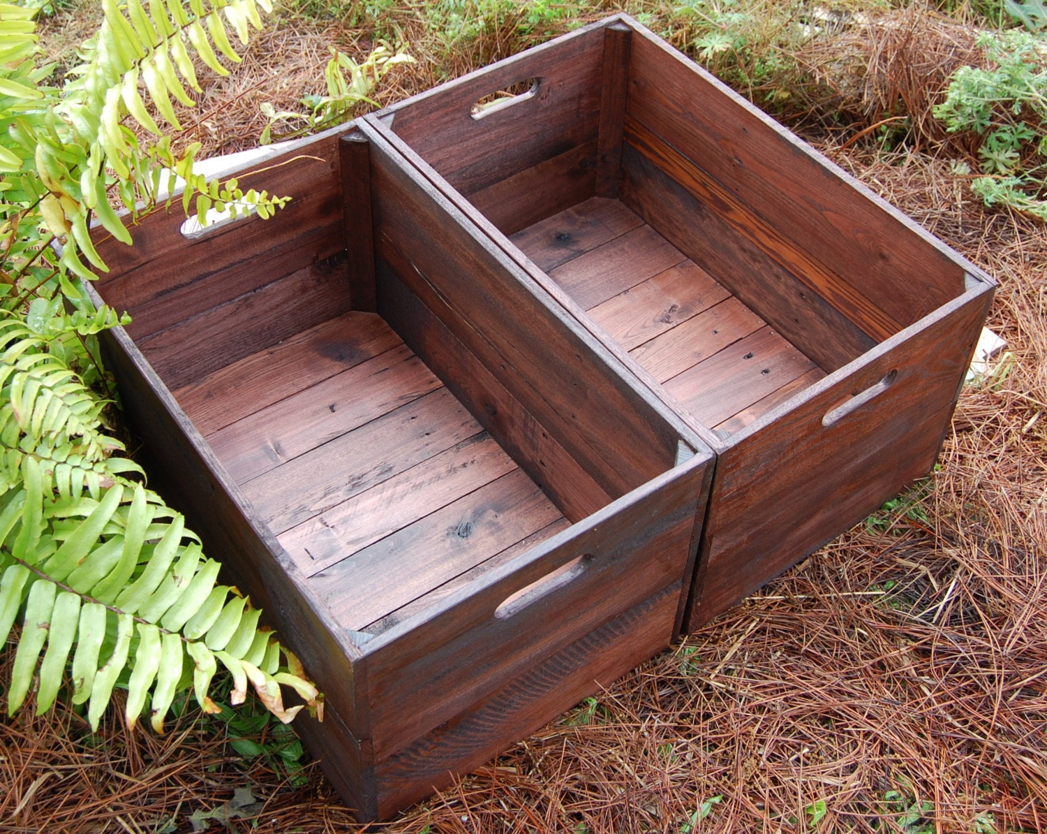 Set of large looney bin crates apple crates wooden crates for How to make apple crates