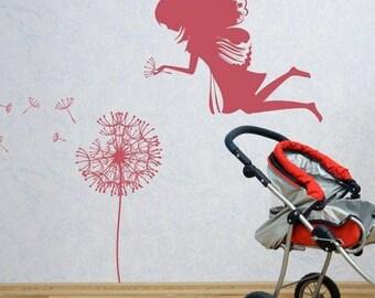 Wall Sticker Fairy and Dandelion (3068n)