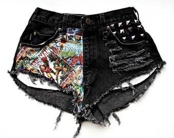 CRAZYCOMIC High Waist Shorts