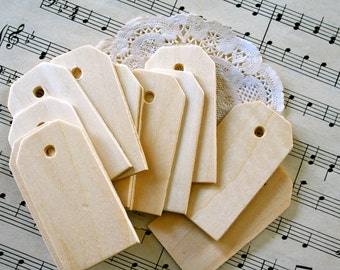 MINI Unfinished Wood Tags, Natural Birch Wood