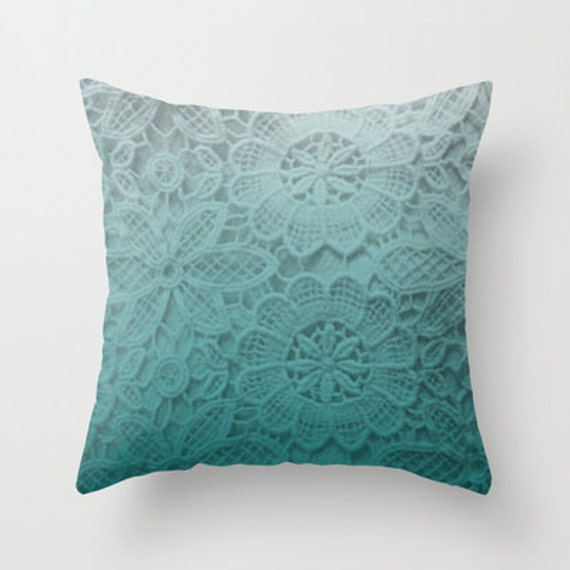 Sweet & Sassy,  Ombre Lace Photographic image - Blue ombre lace - Home Decor, Decorative, Throw Pillow, Art, Present, Gift, Personalize