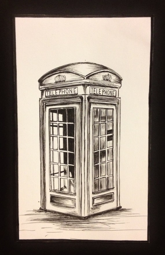 how to draw a telephone box why even