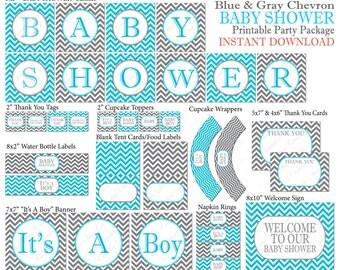 Popular items for chevron baby shower on Etsy