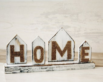 Home Label Desk Organizer Paper Holder Houses Country House Office Accessory Rustic Decor White Brown Burlap Decor
