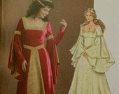 Renaissance or Princess Costume Butterick Pattern 4571 Uncut  Sizes 14-16-18-20  Bust 36-38-40-42""
