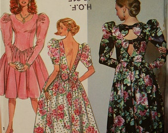 """Party Dress  with Sweetheart Neckline- 1990's - Simplicity Pattern 7567  Uncut  Sizes 12-14-16  Bust 34-36-38"""""""