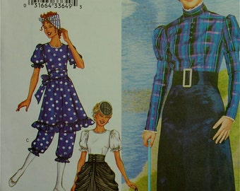 Victorian Dresses & Bathing Suit Costumes   Butterick Pattern 3187  Uncut   Size 14-16-18  Bust 36-38-40""