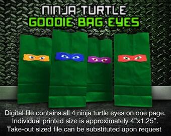 Ninja Turtle Goodie Bag Eyes (Digital File)