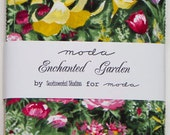 "Enchanted Garden by Sentimental Studios for Moda Fabric. 42 5"" squares charm pack. 32630PP"