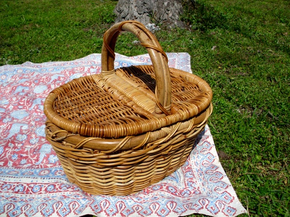 Picnic Basket Items : Items similar to picnic basket with removable lid on etsy