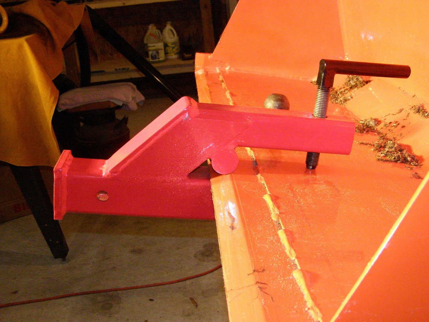 Tractor Tow Hitch : Clamp on trailer hitch for loaders tractors or skid steers