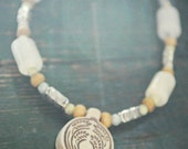 beaded celtic-inspired necklace wheat
