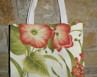Handmade All Purpose Hibiscus Tote-N-Go