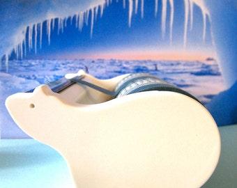 """CLEARANCE Multiple roll washi tape dispenser/organizer """"Mas Cut"""" Large Polar Bear"""