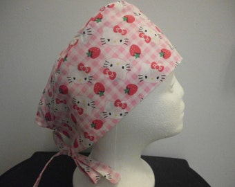 Surgical Hat  Chemo Cap Hello Kitty  Riding Hat