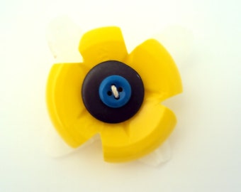 Flower Brooch  -  Upcycled Plastic
