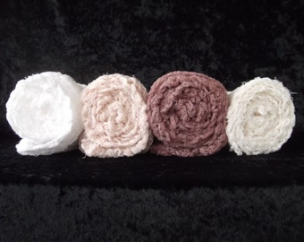 Set Of 4 Neutral Photogrophy  Cheesecloth Wraps... Baby Photo Wraps..  Newborn wraps..Photo Props