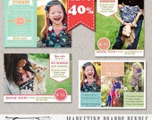 INSTANT DOWNLOAD - Photography Marketing boards - Photoshop Newsletter template, Bundle vol.11