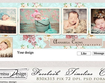 Facebook Timeline Cover Photoshop Template  vol.9-Chabby Chic, INSTANT DOWNLOAD