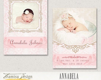girl birth announcement template – Etsy NZ