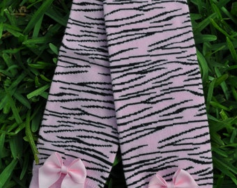 Light Pink Zebra Leg Warmers- customize available