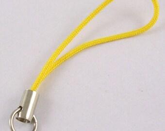 20PCS Yellow Phone Charm Strap Cord